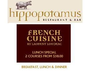 French Cuisine by Award winning Executive Chef Laurent Loudeac. 2 Course Lunch Special from $38